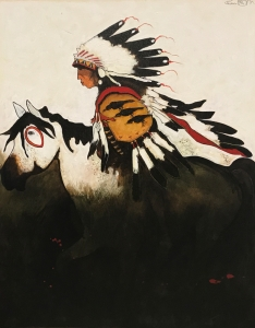Three Raven - Crow Indian War Horse