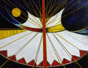 Abstract Plains Indian Tipi