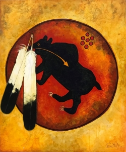 Bear War Shield - Crow Indian Shield