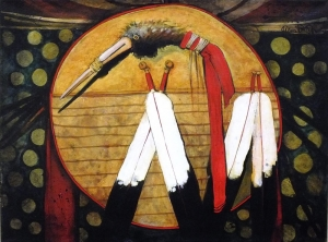 Absalooka Crane Medicine Shield