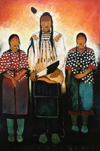 Crow Indian Man and Crow Women