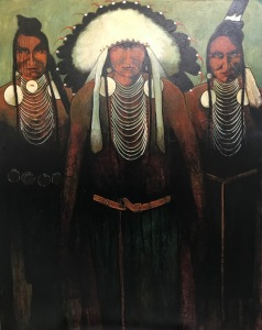 War Chief and Crow Warriors