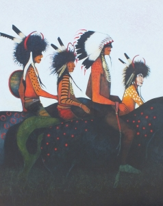 Heading Back to Crow Land - Crow Indian Chief and Medicine Helpers