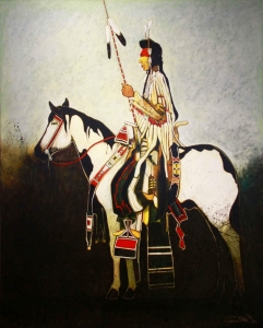 Crow Man on War Horse
