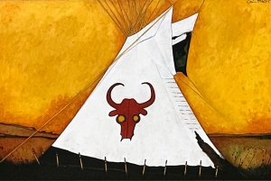 Red Buffalo Bull Tipi