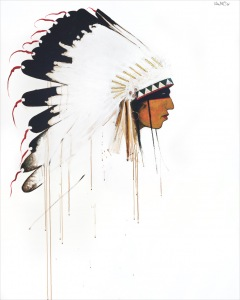 River Crow Head Chief