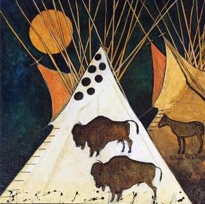 Buffalo & Horse Tipis - Crow Style