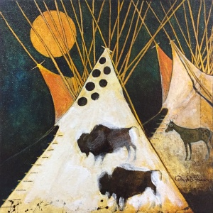 Buffalo-and-Horse-Tipi's