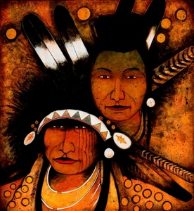 Crow Medicine Man and Helper