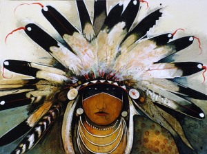 Mountain Crow Indian - Eagle Headdress
