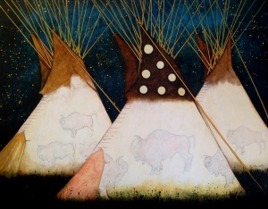 Night Camp in the Buffalo Tipi, Crow Style