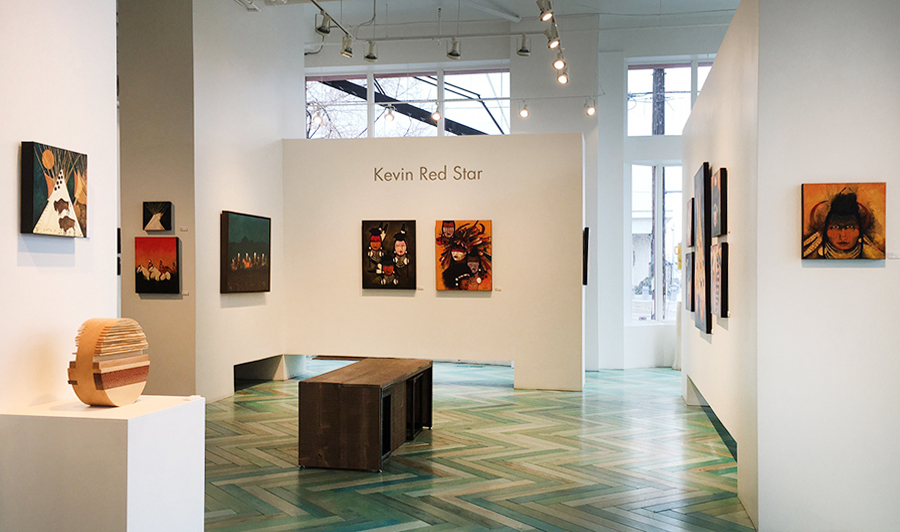 Kevin Red Star Exhibition at Modern West Fine Art